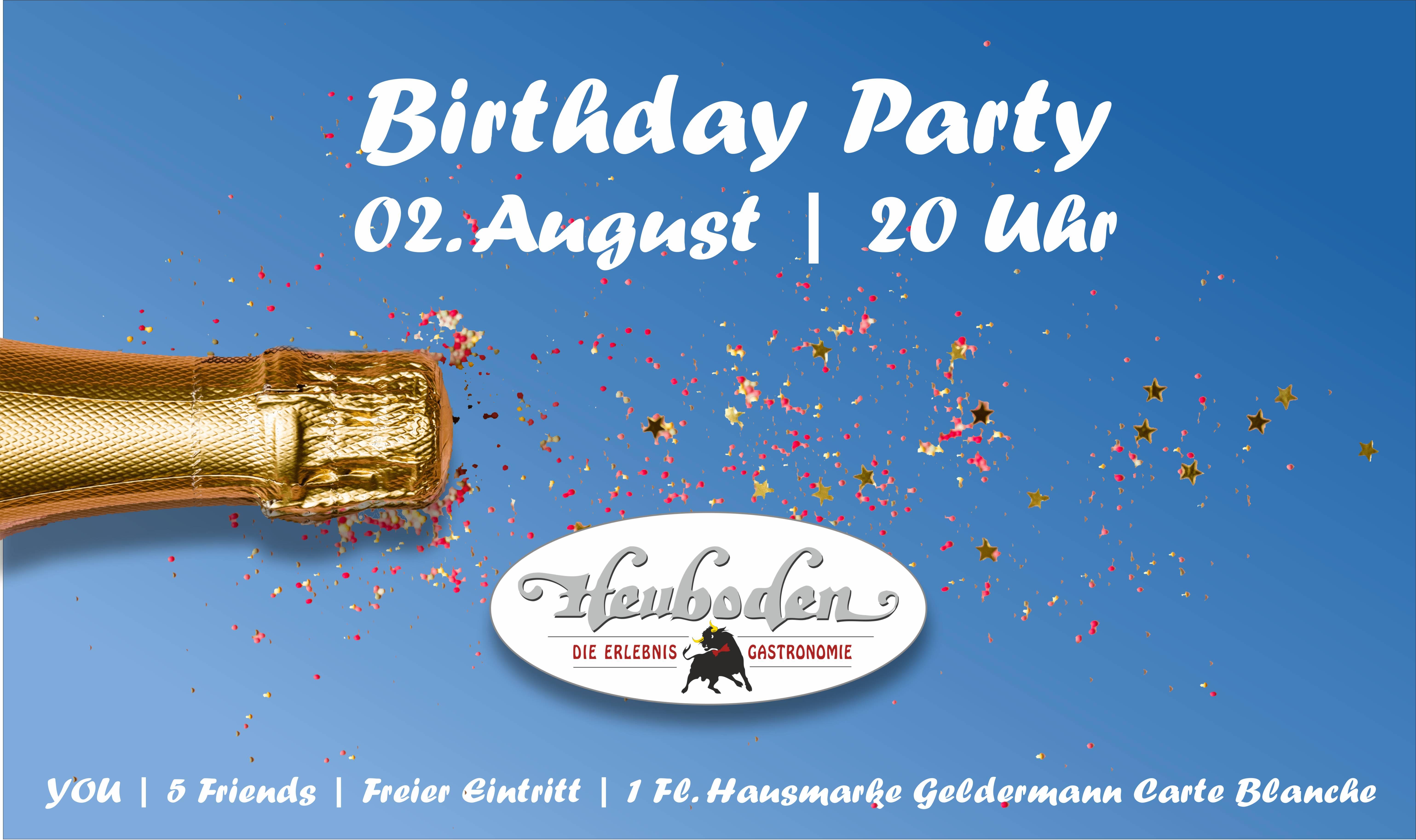 Facebook Banner Birthday Party Juli 2019
