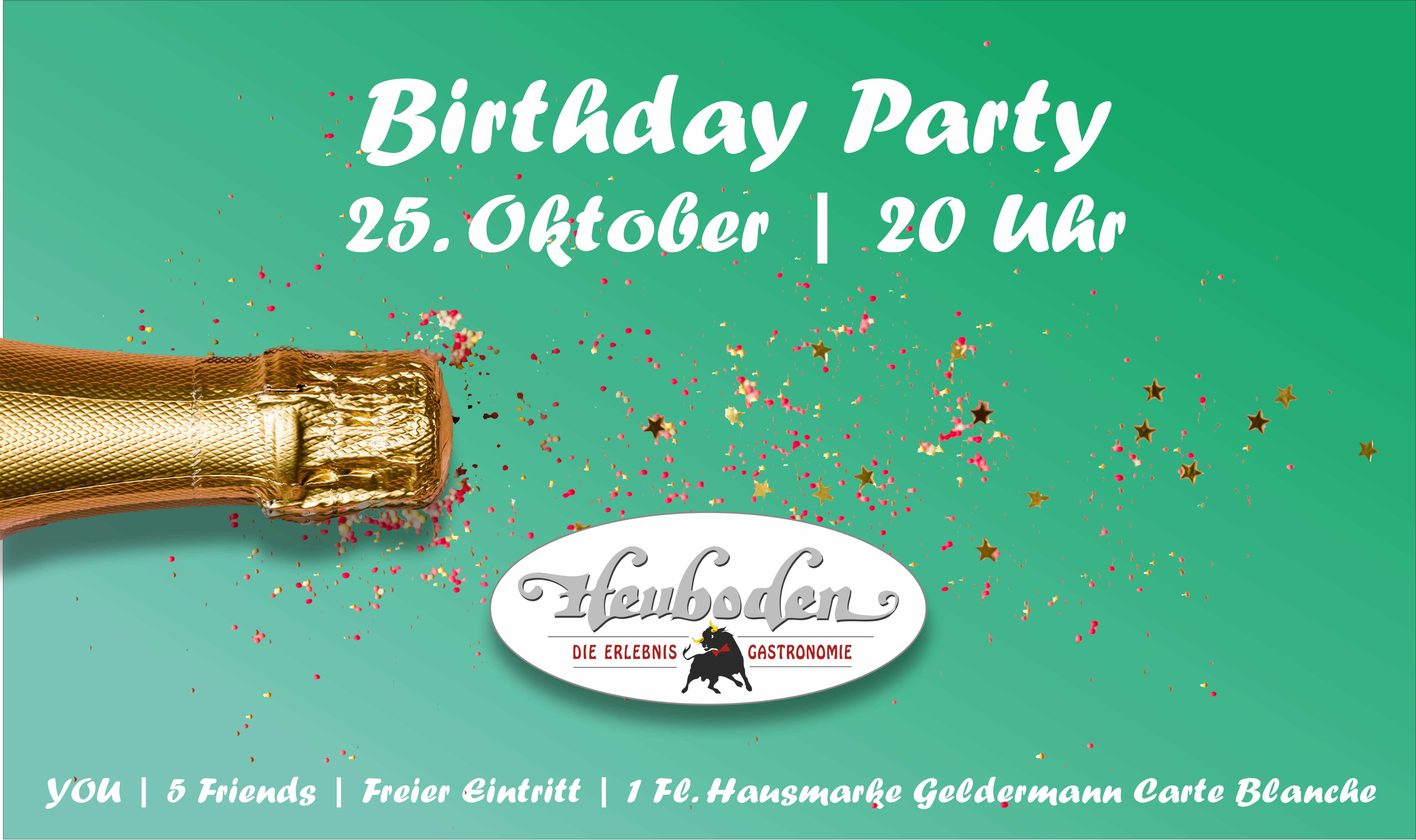 Facebook Banner Birthday Party Oktober 2019
